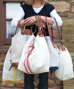 INSPIRATION:  linen totes