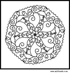 Free Printable Mandala Coloring Pages Hearts