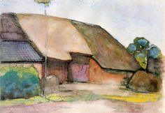 Piet Mondrian | Farm Sun  davidcharlesfoxexpressionism.com #pietmondrian #farmsun #impressionism #impressionistart #dutchpainters #abstractart #abstract