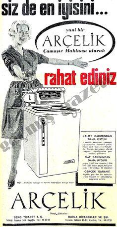 Arçelik - 1965 Vintage Advertisements, Vintage Ads, Istanbul, Photography Exhibition, Turkish Fashion, Old Ads, Slogan, Advertising, History