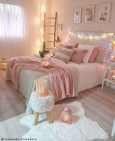 Best 27 Room Decor Bedroom Design Ideas For Your Inspiration Bedroom Decor For Teen Girls, Cute Bedroom Ideas, Cute Room Decor, Girl Bedroom Designs, Room Ideas Bedroom, Home Decor Bedroom, Bedroom Inspo, Bedroom Inspiration, Master Bedroom