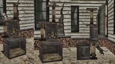 Pet Houses, Beds, and Condos Sims 1, The Sims, Sims 2 Pets, Pet Houses, Alien Invasion, Animal House, Condos, Post Apocalyptic, Apocalypse
