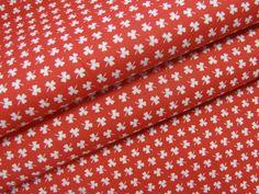 Stoff Blumen - Baumwolldruck Kleeblätter Rot 19967-0801 - ein Designerstück von Stoff-Schatzkiste bei DaWanda