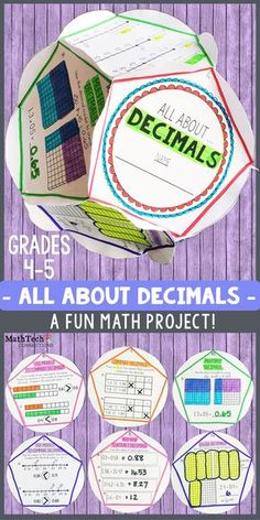 Review DECIMALS with this FUN dodecahedron project! This activity is perfect to complete as a fun end of unit assessment, fun review project, or end of the year activity. Students will LOVE to complete this fun activity. You will love that there is a RECORDING SHEET that will making grading this project a simple task :)