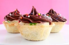 Ice cream cake cookie pie. -