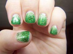 Last Mani of 2013 Green Gradient Celebration: LA Colors's La Creme, Revlon's Posh, and Sinful Colors's Call You Later