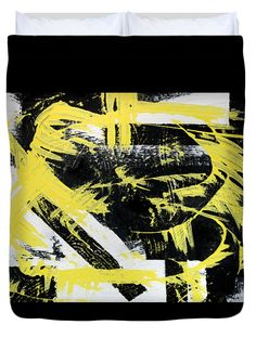 Industrial Abstract Painting I Queen Duvet Cover by Christina Rollo.  Available in king, queen, full, and twin.  Our soft microfiber duvet covers are hand sewn and include a hidden zipper for easy washing and assembly.  Your selected image is printed on the top surface with a soft white surface underneath.  All duvet covers are machine washable with cold water and a mild detergent.