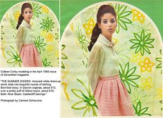 Colleen Corby 1968 SissyDresses   Flickr - Photo Sharing! 1960s Outfits, Vintage Outfits, Vintage Clothing, Colleen Corby, Seventeen Magazine, All Things Beauty, Every Girl, Little Princess, What I Wore