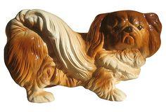 1950s Pekinese Figurine on OneKingsLane.com Pekinese, Japanese Chin, Dog Lovers, 1950s, Lion Sculpture, Dreams, Statue, Dolls, Antiques