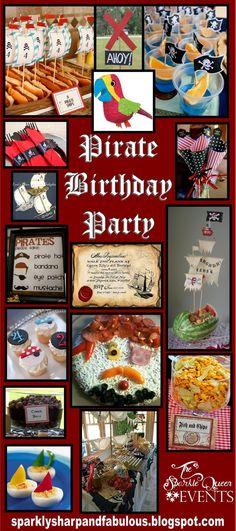Pirate Birthday Party for Joshua's birthday party inspiration board Pirate Day, Pirate Birthday, 3rd Birthday Parties, Birthday Fun, Birthday Ideas, 19th Birthday, Pirate Theme, Party Fiesta, Partys