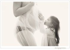 Mother and Daughter Maternity Portrait.  Beautiful.