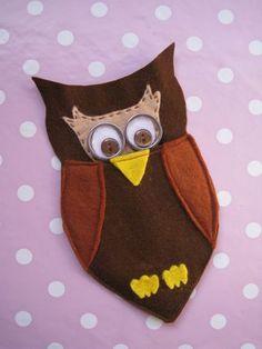 felt owl scissor case