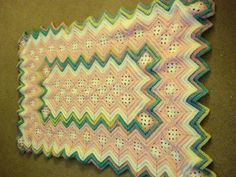 Free Crochet Ripple Afghan Pattern   Granny Squares and Ripple Baby Afghan by F...   Crocheting Ideas