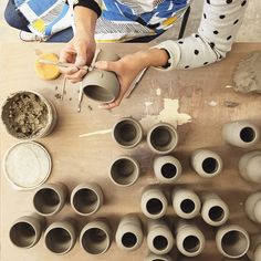 Spending our second day in Tokyo (March 2015) at Polkaros pottery studio. Ros was kind enough to give us a tour to show us how her pots are made! (Part of the upcoming dröm x Polkaros collab) Photos: ©the little dröm store