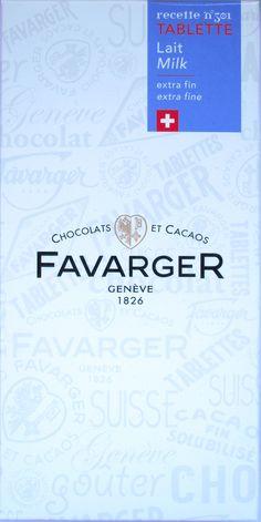 Favarger Recette N° 301 Lait Extra Fin