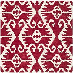 Safavieh Impressions Collection Im398a Handmade Peach Wool Square Area Rug 6 Feet The