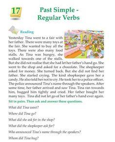 Grade Grammar Past Simple Regular Verbs regular, Teaching English Grammar, English Grammar Worksheets, English Writing Skills, English Reading, English Vocabulary Words, Learn English Words, English Phrases, Grammar Lessons, Kids Worksheets
