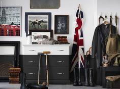 DIY the BIRKLAND dresser for some unconventional living room storage.