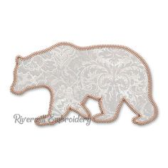 Bear Silhouette, Silhouette Machine, Applique Designs, Machine Embroidery Designs, Zig Zag, Things To Sell, Email Address, 4x4, Hoop