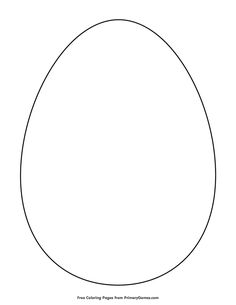 Free printable Easter Coloring Pages eBook for use in your classroom or home from PrimaryGames. Print and color this Simple Egg Outline coloring page. Easter Egg Outline, Easter Bunny Template, Easter Templates, Easter Egg Pattern, Easter Printables, Templates Printable Free, Easter Egg Coloring Pages, Easter Coloring Pages Printable, Easter Arts And Crafts