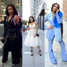 South Africa media star Bonang Matheba dazzled with this 3 outfit at the NYFW. Byron Lars, Elizabethan Era, Frack, Dressed To The Nines, Queen B, Dress Outfits, Dress Shoes, Business Women, New Look