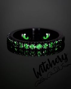 Sometimes you are asked to do something that really feels just like your own thoughts. 🖤💚 Magical, mesmerizing eyes and spruce green diamonds, just love this color. Green Diamond, Black Rings, Just Love, Diamond Rings, Something To Do, Feels, Diamonds, Wedding Rings, Thoughts