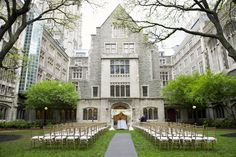 Ceremony on the quad- fingers crossed for a sunny day!