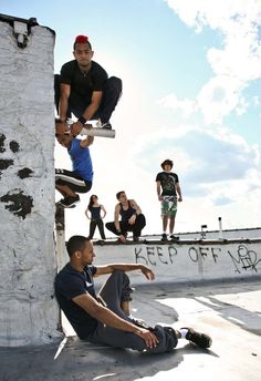 Parkour models and current/former Bullettrun members: Jeremy Spyder-Thomas Gallant, George Quinones, Jesse La Flair, Vinny Pellegrini and Bullettrun's artistic director Nadia Lesy Photography by: James Starkman (C) 2013 — at LightSpace Studios.