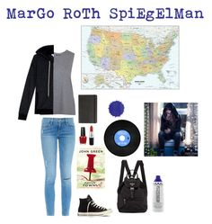 """Margo Roth Spiegelman... "" by carolina-herrera0 on Polyvore featuring Frame Denim, Topshop, Splendid, Converse, OPI, MAC Cosmetics, Moleskine, WallPops, women's clothing and women's fashion"