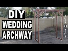 How to build a wedding archway! Today I will be building a wooden archway for my sisters wedding! This archway is a great because it is so . Diy Wedding Wreath, Diy Wedding Arbor, Wedding Ceremony Backdrop, Diy Wedding Flowers, Diy Wedding Decorations, Rustic Wedding, Wedding Ideas, Wedding Blog, Wedding Planning