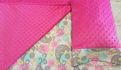 Pink Nap Mat Cover Pink & Teal Paisley by ThePinkRoseBoutique