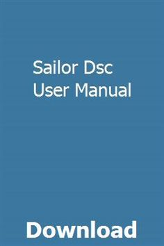Sailor Dsc User Manual pdf download online full