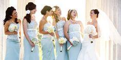 Winter Blue Wedding Bridesmaid Dresses