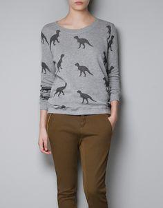 dinosaur sweatshirt by Zara