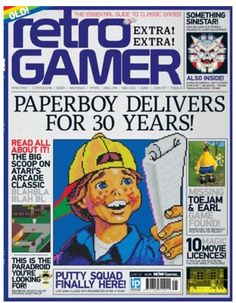 Retro Gamer - March 2014. Buying that ASAP. Always loved Paperboy!