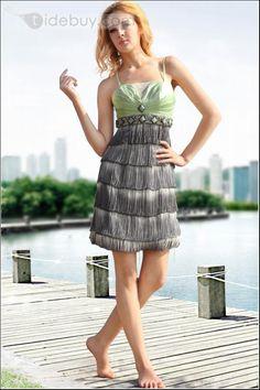 Exquisito Vestido de Novia de Satine Largo al Piso de Chiffon con Escote Halter y con Escote Sin Tirantes (Envío Gratuito)