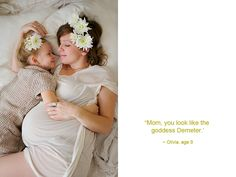 Love the added props of flowers. Calgary Maternity Photography -- Dana Pugh