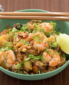 Sweetness of pineapple brings out the savory flavors in this delicious fried rice.