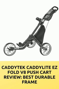 The great EZ fold V8 cart is made from the great-quality also strong elements. That gave us to benefit also pushing was effortless. If you need some essential information about a push cart. This CaddyTek Caddylite EZ fold V8 Push Cart Review can help you nicely. Golf Push Cart, Golf Carts, Golfers, Ladies Golf, Benefit, Strong