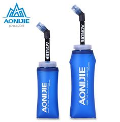 [Visit to Buy] AONIJIE 350ML 600ml Foldable TPU Soft Long Straw Water Bottle Kettle Travel Outdoor Sport Camping Hiking Walking Running #Advertisement