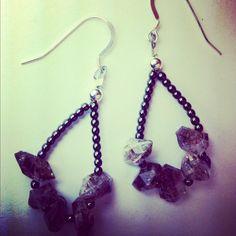 Diamond earrings. www.beadsofparadisenyc.com