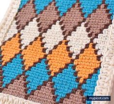 Tapestry crochet diamond pattern