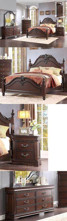 Bedroom Sets 20480 King Poster Bed 6 Pc Bedroom Furniture Set - schlafzimmer barock