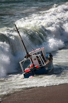 Porthleven, Cornwall Fishing Boat In Trouble.