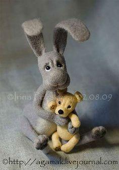 .big grey rabbit      cute
