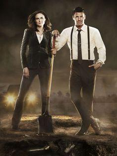 Emily Deschanel and David Boreanaz Bones Serie, Bones Tv Series, Bones Tv Show, Booth And Bones, Booth And Brennan, Bones Season 5, Season 8, Detective, Michaela Conlin