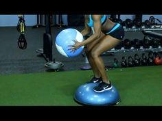 ▶ 10 Awesome Bosu Ball Exercises: Total Body Balance Training - YouTube