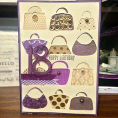 Handbag 18th Birthday Card
