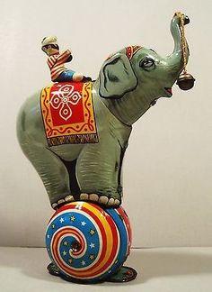 Tin toy windup Circus Elephant