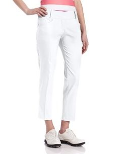 Adidas Golf Women's Climalite Ankle Length Fashion Pant by adidas. $60.00. 100% Polyester Pique. 100% Polyester Pique. contrast adidas brandmark on back neck. Rib-Knit collar, open hem sleeve, button pocket on left chest. Rib-Knit collar, open hem sleeve, button pocket on left chest contrast adidas brandmark on back neck of the sleeve